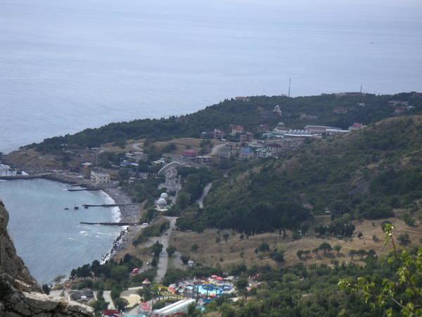 Вид на Кацивели с горы Кошка