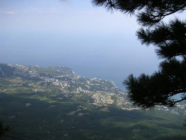 Вид на Кореиз с плато Ай-Петри