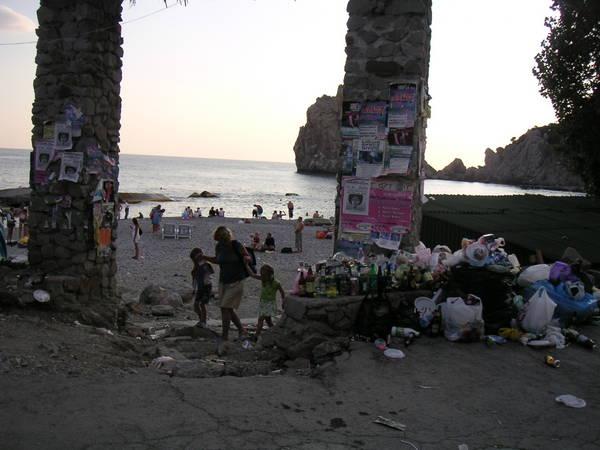 Живописный вид на Симеизский пляж
